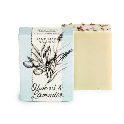 סבון שמן זית ולבנדר צרפתי קסם צמחים